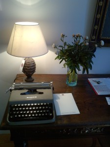 Olivetti and peonies